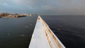 Cudna Zima! Gdynia 6.01.17 z drona