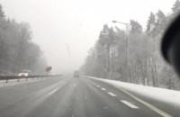 Opady śniegu na obwodnicy