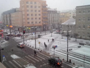 W Gdyni juz biało. Zaraz megakorki