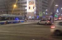 Śródmieście Gdyni zaśnieżone, ale przejezdne
