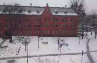 Śnieg pada jak w amerykańskim filmie :)