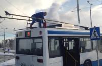 Pożar trojlebusu w Cisowej
