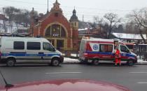 Interwencja służb przy dworcu w Gdańsku