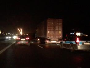 Ciężarówka przez kilka godzin blokowała obwodnicę na Matarni