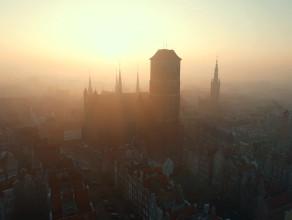 Wschód słońca nad Gdańskiem