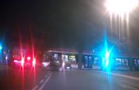 Tramwaj blokuje skrzyżowanie pod Zieleniakiem