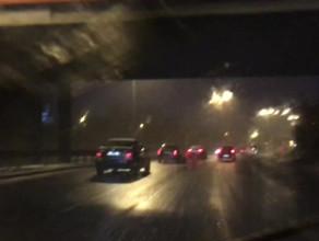 Lekkie opady śniegu na Wz