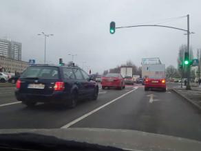 Kolizja na skrzyżowaniu Chłopskiej z Kołobrzeską