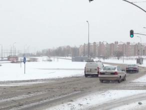 Zima spowolniła kierowców na al. Havla