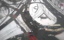 Tak wygląda ruch w centrum Gdańsk koło...