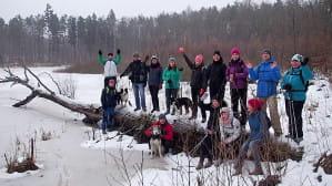 Zimowa wędrówka przez Lasy Otomińskie