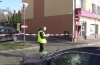 Policja zabezpiecza ślady po nieudanym napadzie na bank