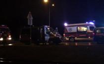 Skutki zderzenia auta z tramwajem na Havla