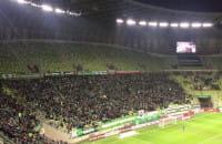 Radość po wyrównującym golu Lechii w meczu z Cracovią