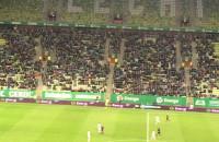 Doping kibiców Lechii Gdańsk podczas meczu z Cracovią