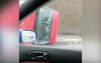 Przewrócony bus na Trasie W-Z