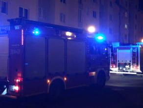 Dwa strażackie wozy na Ujeścisku