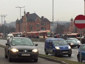 Awaria tramwajów przy dworcu głównym