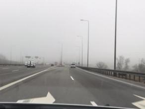 Mgła na obwodnicy coraz gęstsza
