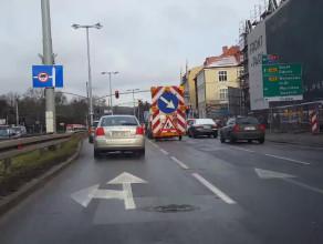Przyczyna korka na Grunwaldzkiej w Oliwie