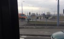 Skutki wykolejenia tramwaju na Chełmie