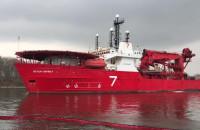 Statek wsparcia dla nurków wyszedł z gdańskiego portu