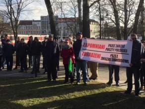 Protest pracowników poczty w Gdańsku