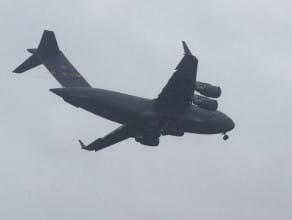 Lądowanie Boeinga C-17 w Gdańsku
