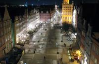 Gdańsk widziany nocą