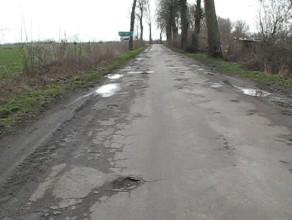 Droga w opłakanym stanie