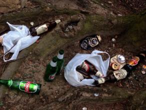 Wypili w lesie i zostawili bałagan