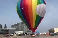Loty balonem nieopodal stadionu w Gdańsku