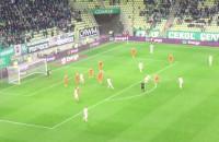 Strzały Ariela Borysiuka w meczu Lechia - Zagłębie