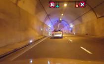 Zamknięty prawy pas w tunelu