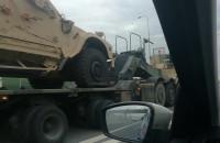 Wojskowy transport na obwodnicy