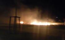 Pożar trawy w okolicy Marynarki Polskiej