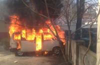 Pożar samochodu we Wrzeszczu