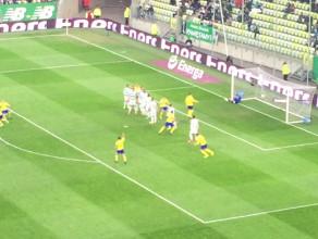 Dominik Hofbauer strzela gola dla Arki na 2:1