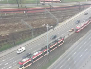Awaria tramwajów na Błędniku