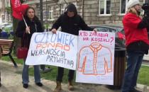 Protest pod siedzibą LPP na ul. Łąkowej w...