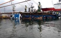 Dok ze statkiem wywrócił się w stoczni Nauta