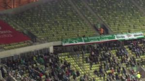 Radość po golu na 2:0 w meczu Lechia - Termalica