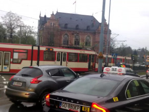 Kolizja tramwajów na Hucisku