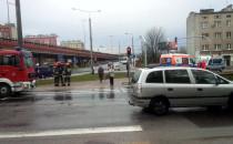 Wypadek pod estakadą w Gdyni