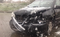 Wypadek na Jabłoniowa ej pod wiaduktem WZ