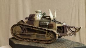 Modele czołgów z I wojny światowej, które skleił Rafał