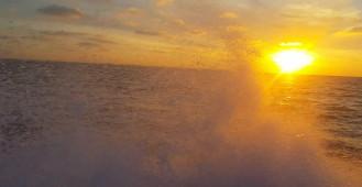 Zachód słońca Zatoka Gdańska
