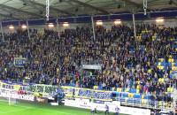 Radość kibiców Arki po zwycięskim golu w meczu z Górnikiem Łęczna
