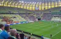 Pierwszy gol dla Lechii w meczu z Jagiellonią
