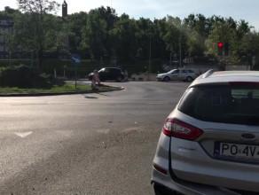 Wypadek na skrzyżowaniu przy ul. Toruńskiej - miejsce zdarzenia
